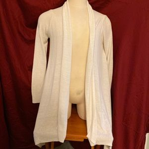 Michael Kors white cardigan sweater.